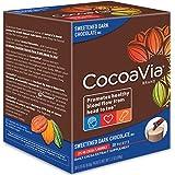 CocoaVia Brain & Heart Supplement, Sweetened Dark Chocolate Flavor, Powdered Mix, 375mg Cocoa Flavanols, 30-Day Supply