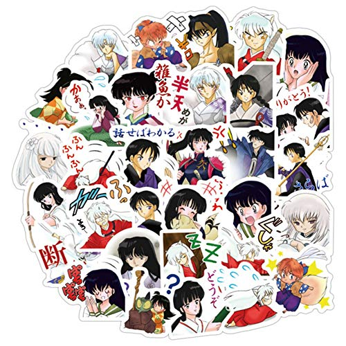ALTcompluser 40 stk Anime Inuyasha Stickers Wasserdicht Vinyl Aufkleber fur Laptop Macbook Gepack Skateboard