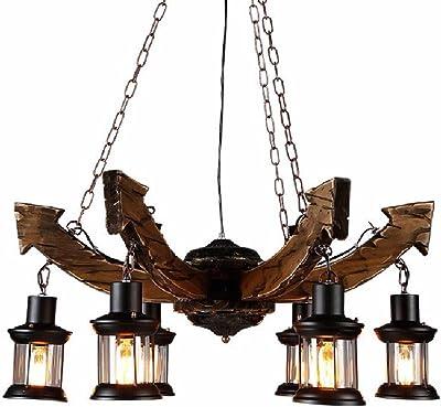 KISlink Luz de Techo Vintage, lámpara de 6 Luces, luz de ...