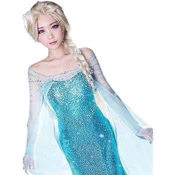CEXIN(セシン) コスチューム コスプレ小物 コスプレ服 アナと雪の女王 Frozen Elsa ワンピース 大きいサイズ 仮装 学園祭