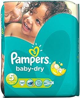 Pampers Baby Dry Size 5 Junior 11-25kg (39 per pack) パンパース赤ちゃんドライサイズ5ジュニア11~25キロ(パックあたり39 )
