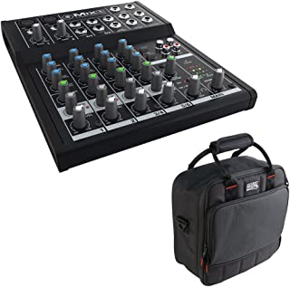 Mackie Mix8 8-Channel Compact Mixer with Gator Cases G-MIXERBAG-1212 Padded Nylon Mixer/Equipment Bag Bundle