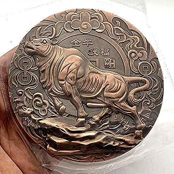 Coin Collection Commemorative Coin 466_ Spot 2021 12 Zodiac Ewai Emergency Tempete Tempete Memorial Collection Golden Cow Four Big Broad Coins