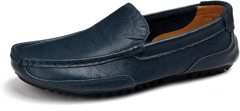 Mads -shop Man skor Genuine läder Casual Drive skor män Loafers Mocasins Slip on Italian skor, blå,7