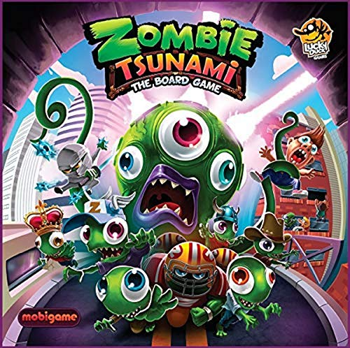 Lucky Duck Games- Zombie Tsunami, Multicolore, 030LKY