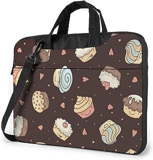 "Muffin Chocolate Brown Laptop Bag Protective Case Computer Messenger Briefcase Women Men 13"""