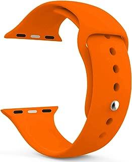 Microsonic 21276 Apple Watch Series 5 44mm Silikon Kordon Turuncu