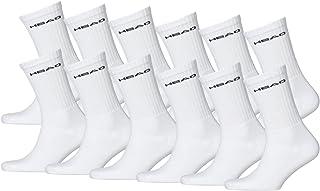 HEAD Sport Crew Lot de 12paires de chaussettes de sport unisexes avec dessous en éponge