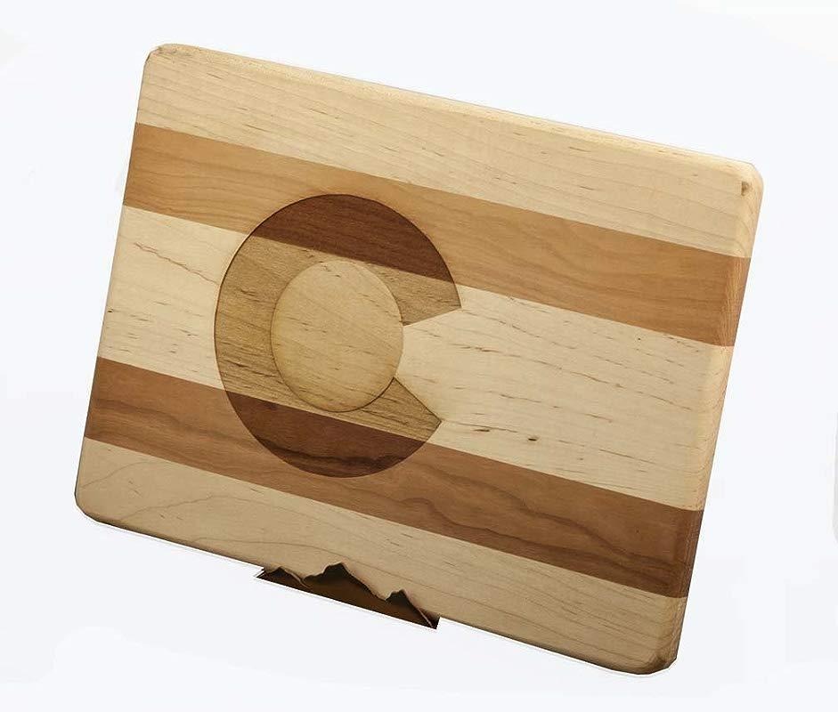 Colorado Flag Wood Cutting Board Large
