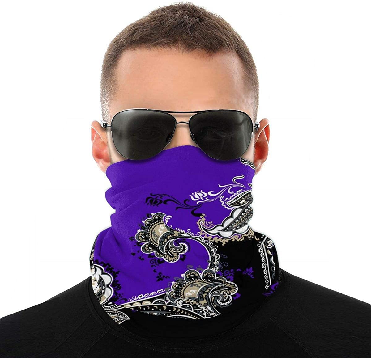 Face Cover Mouth Mask Scarf Bandanas Neck Gaiter Dust UV Sun-Protection for Outdoors -Halloween Cartoon Seamless