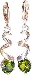 Rose Gold Twist Rhinestone Drop Dangle Earrings