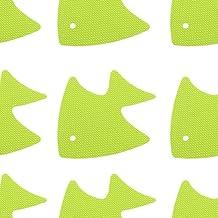 YuKeShop 20 stks Badkuip Stickers Antislip Vis Vorm Antislip Tub Zelfklevende Appliques Kids Safty Decals (Licht Groen)