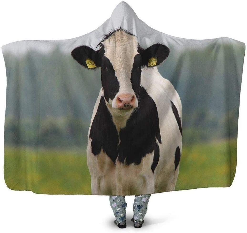 Personalized Max 80% OFF Popular 3D All Over Printed Cow Wearab Hoodie Blanket Dutch