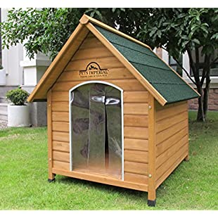 Customer reviews Pets Imperial® Medium Wooden Sussex Dog Kennel With Removable Floor For Easy Cleaning B