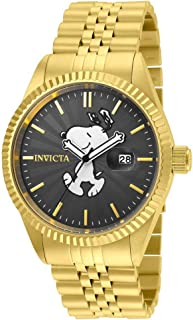 Invicta Men's Character Collection Analog-Quartz Watch with Stainless-Steel Strap, Gold, 20 (Model: 24801)