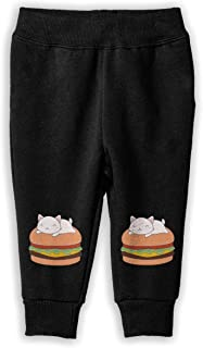 CHAOYIFANG Kawaii Cute Cat On Burger Sweatpants, Baby Boys' Training Pants