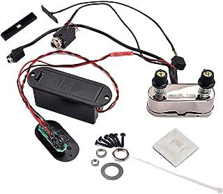 Artibetter Violin Jack Bridge Pickup EQ Amplifier Set Accesorios de instrumentos musicales para accesorios de violín eléctrico (Negro) 3.5mm