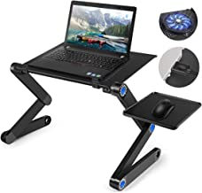 Laptop Desk, lapsdesk,Adjustable Laptop Stand For Bed and Sofa, Sitting With CPU Cooling Fans And Mouse Pad, Ergonomic Lap...