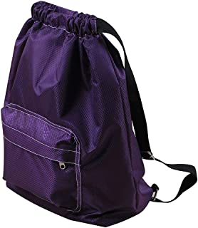 SYCYKA Beach Backpack Portable Waterproof Gym Swim Pool Drawstring Bag, Adjustable Dry Wet Separated Sport Equipment Bags for Men Women Kids (Purple)