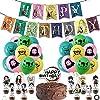 鬼滅の刃 誕生日 飾り付けセットきめつのやいば 風船 バルーン HAPPY BIRTHDAY 飾り キャラクター アニメ 装飾 パーティーデコレーション