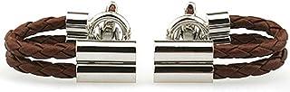 MFYS Jewelry 編み込みレザー ビジネス 男性 カフス (カフスボタン?カフリンクス)【専用収納ケース付き】