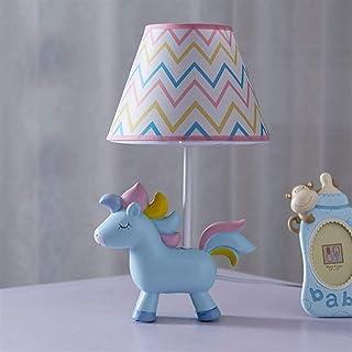 Unicorn Lampa, sovrum sänglampa med Lampshade Söt Resin Bordslampa för barn Inreda Julklappar (inklusive E14 LED-lampor) (...