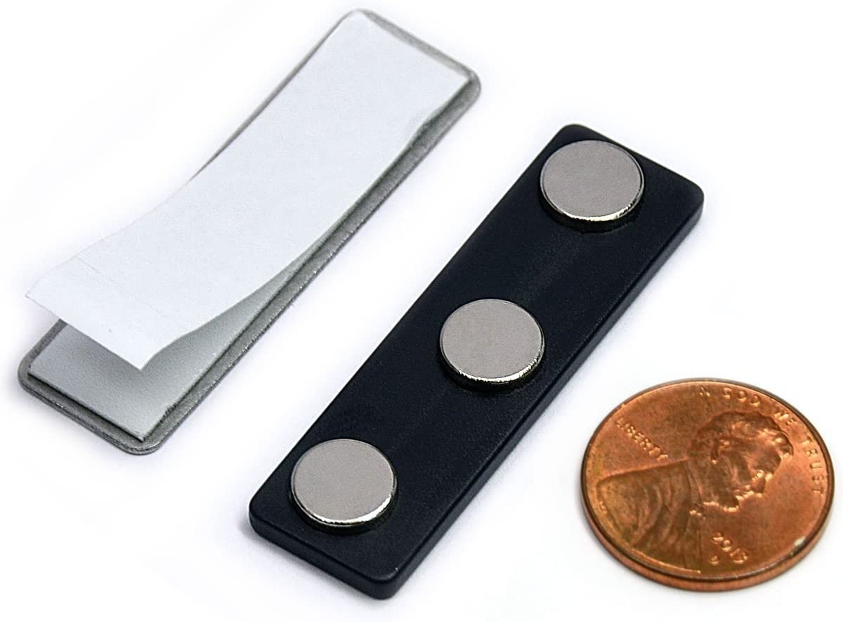 CMS We OFFer at cheap prices Magnetics Name Badge Magnets - 100 Tag of Raleigh Mall Sets Magnetic