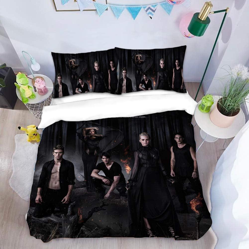 2 Kissenbez/üge 50x75 cm 1 Bettbezug 135x200 cm RITIOA Bettw/äsche,The Vampire Diaries,weiche Flauschige 3D Drucken Bettbez/üge,mit Rei/ßverschluss Microfaser Bettw/äsche Set