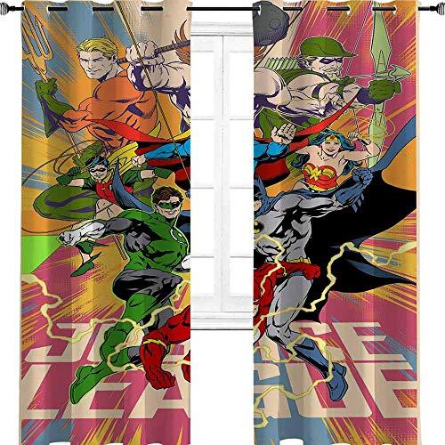 Superhero Avengers fondos de pantalla Salvador Justicia Urbana Diseño Oscuro Salvador Habitación Aislamiento Térmico Cortina opaca para Ventana de Salón 2014 cm de ancho x 250 cm de largo