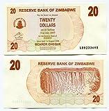 Zimbabwe 20 Dólares 2006 UNC, inflación mundial, billetes de divisa, P40