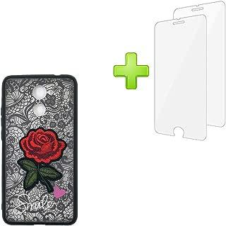 Case for Huawei Y7 2017 TRT-L23 TRT-LX3 TRT-LX1 TRT-L22 / Y7 Prime TRT-L21A / Huawei GW Metal TRT-L53 / Ascend XT2 / Enjoy 7 Plus Case Cover + 2 Tempered Glass Screen Protectors Black