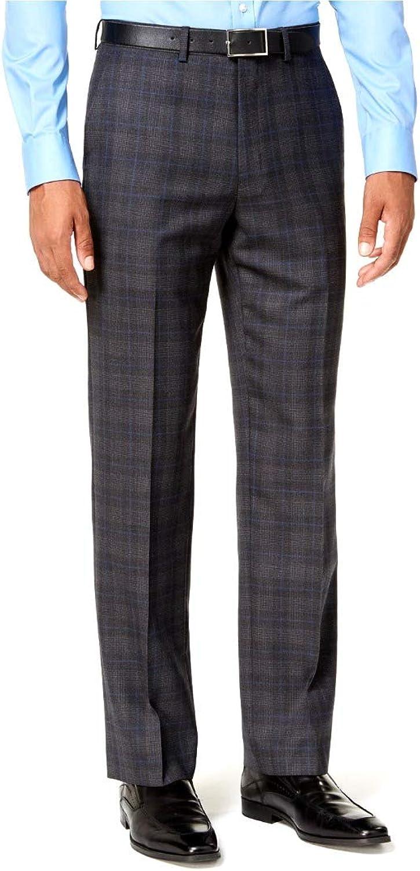 Ryan Seacrest Distinction Mens Wool Blend Plaid Dress Pants