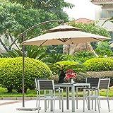 Tx モダンデコ パラソル ガーデンパラソル 大型 D270 × H245cm ハンギングパラソル 日よけ 日除け UVカット おしゃれ 庭 テラス