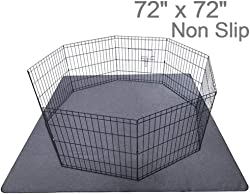 Upgrade Non-Slip Dog Pads Extra Large 72  x 72 , Washable Puppy Pads with Fast Absorbent, Reusable, Waterproof for Training, Travel, Whelping, Housebreaking, Incontinence, for Playpen, Crate