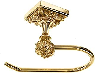 Vicenza Designs TP9001 Sforza French Toilet Paper Holder, Polished Gold