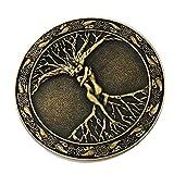 F Fityle Hebilla de Cinturón Celta Vintage Árbol del Amor Rama Mitología 8 Cm - Bronce, Individual