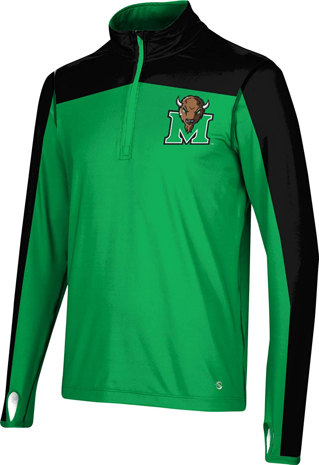 ProSphere Marshall University Clearance SALE! Limited time! Men's Quarter Zip Bombing free shipping Sh Sleeve Long -
