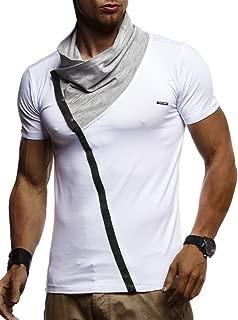 Herren Sommer T-Shirt Stehkragen Slim Fit Casual Baumwolle-Anteil Cooles weißes schwarzes Männer Kurzarm-T-Shirt Hoodie-Sweatshirt-Longsleeve lang LN1020