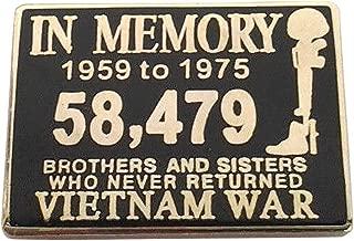 in Memory of The Vietnam WAR 1959-1975 Military Veteran Hat Pin P15843 EE