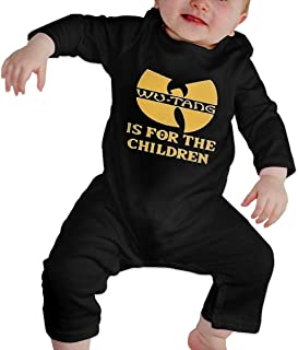 Baby Onesies WuTang Infant Bodysuit Toddler Romper Climbing Clothes Black