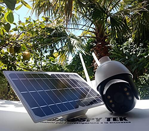 4G SIM 1080P HD Pannello Solare Sorveglianza Da Esterno Sorveglianza Impermeabile WiFi IP Camera IP Smart Home Due Vostro Voice Allarme Per Intrusione Voice Monitor Di Sicurezza(Color:Wifi with 64G)