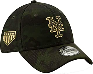 New Era 2019 MLB New York Mets Hat Cap Armed Forces Day 39Thirty 3930 Green/Gold