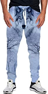 Idgreatim Men Women Casual Sport Jogger Sweatpants 3D Graphic Workout Running Baggy Pants Trousers with Drawstring
