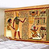 KHKJ Pirámide egipcia Antigua Mural decoración del hogar Tapiz Escena psicodélica Tapiz Decorativo Bohemio Hoja de Cama A1 200x150cm