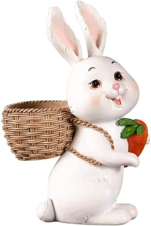 ORNAMENT Rabbit Statue Resin gift Sculpture Animal Living Room gift Craft