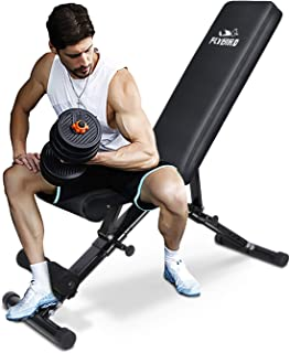 FLYBIRD Weight Bench, Adjustable Strength Training Bench for Full Body Workout with Fast..