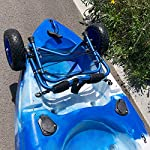 Newcod kayak cart kayak trolley carrier dolly trailer for canoe boat with no-flat airless tires wheels 14 【good quality】22x1. 5mm aluminum tube with rubber pads. 【pu wheel】with two pu solid wheels, don't need to inflate. 【capacity】this kayak cart can be loaded 165lbs.