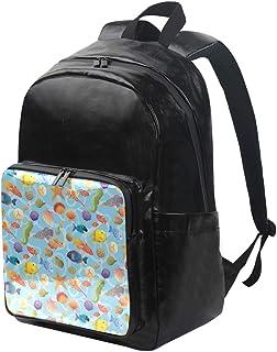 LUPINZ mochila de viaje ligera con diseño de concha de mar y pescado