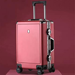 """XLHJFDI Ultralight Business Trolley Case, Trolley Case, PC Material Simple Trolley Case,20"""" 24"""" Inches (Color : Red, Size : 24 inches)"""