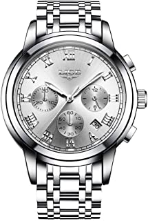 9810 رجال ساعة كوارتز الأعمال ساعة يد بسيطة التقويم تاريخ ساعة دقيقة ثانية عرض الموقت 3ATM مقاوم للماء موضة ساعات رجالي عا...